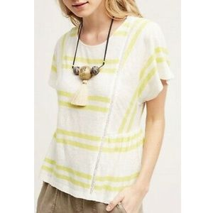 Postmark Yellow Hitch Striped Tee in Yellow White